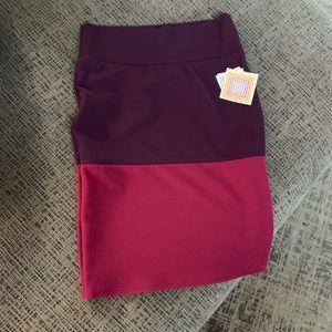 NWT Purple colorblock LulaRoe skirt